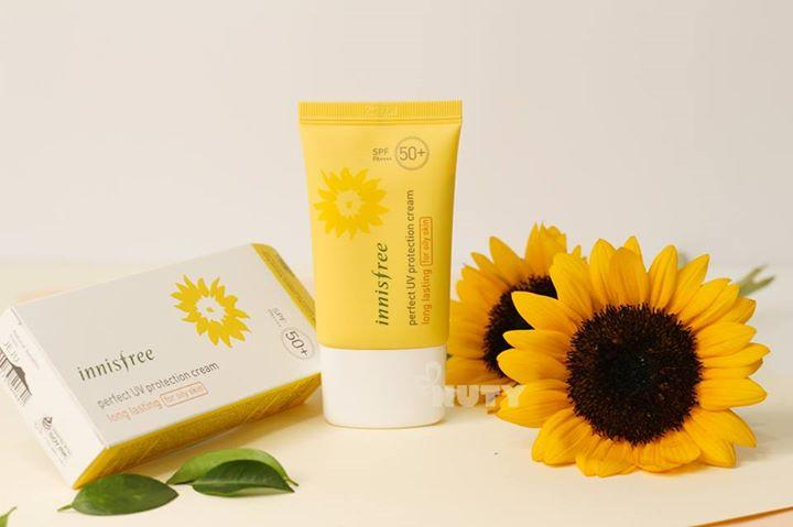 Kem Chống Nắng Innisfree Perfect UV Protection Cream Long Lasting SPF50 PA (For Dry Skin)