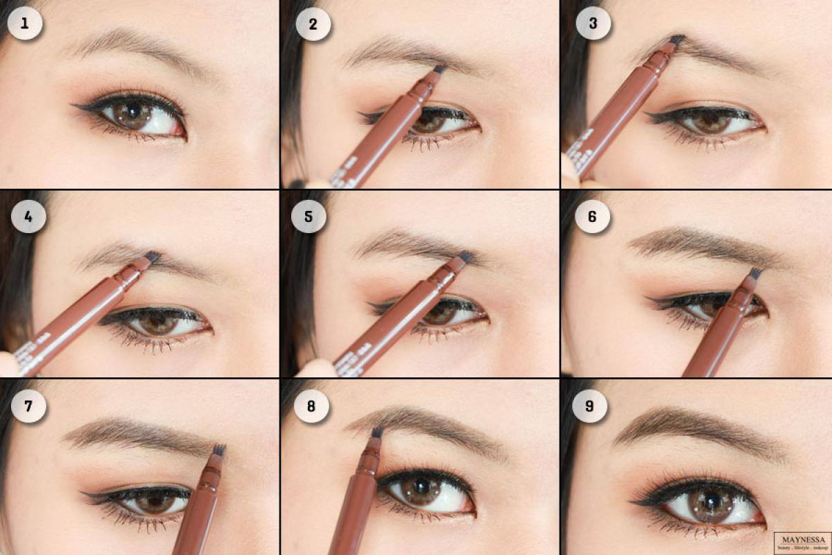 Bút Xăm Chân Mày Cathy Doll 01 Light Brown 1g Real Brow 4D Tatoo Tint